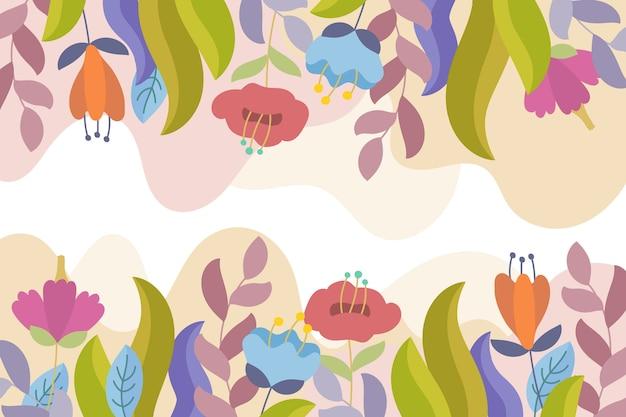 フラットなデザインパステルカラーの花の背景