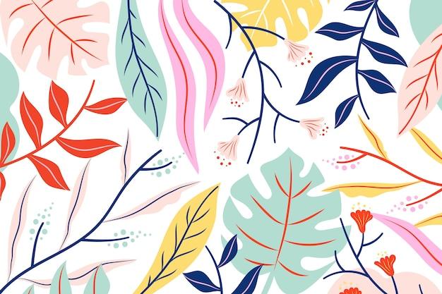 Плоская абстрактная цветочная заставка