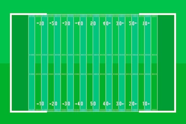 フラットスタイルのアメリカンフットボールのフィールド