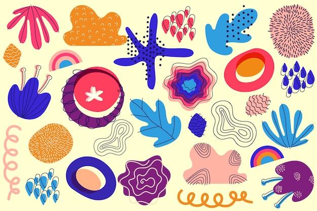 カラフルな抽象的な有機図形背景