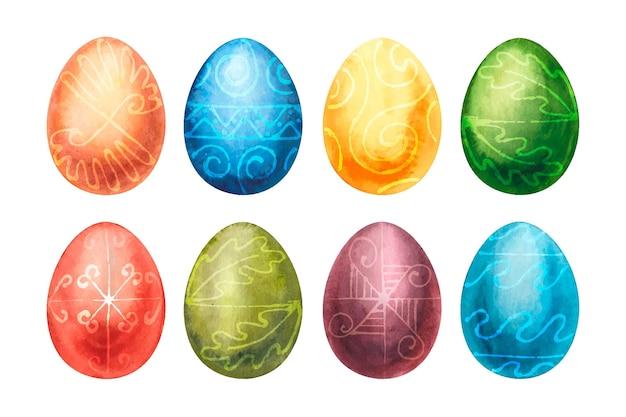Набор акварельных пасхальных яиц