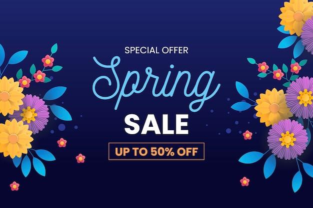花と春のセール