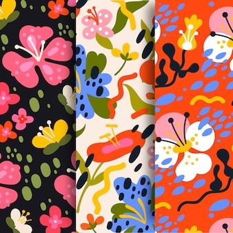 Плоский дизайн коллекции весны