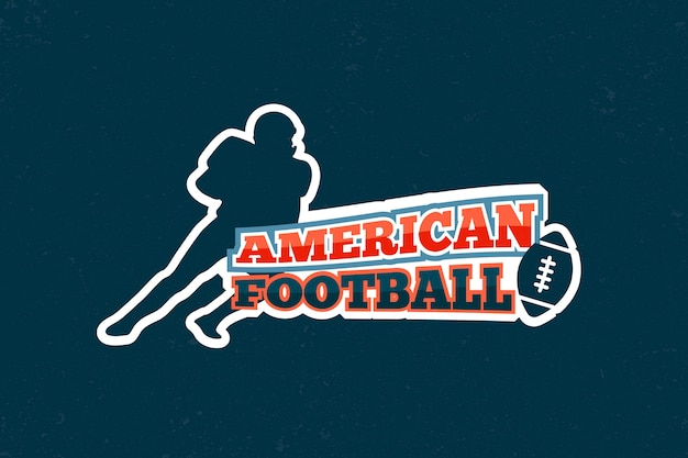 Ретро американский футбол логотип