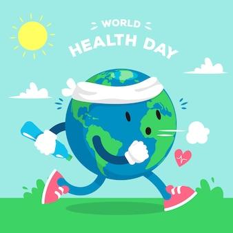 フラットなデザインの壁紙世界保健デー
