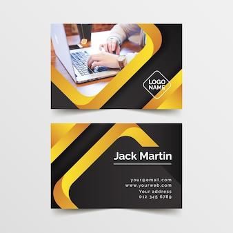写真と抽象的な現代的なビジネスカード
