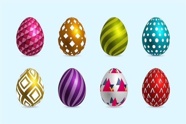 Реалистичная коллекция пасхальных яиц