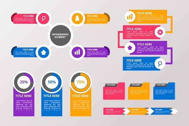 Стиль коллекции инфографических элементов