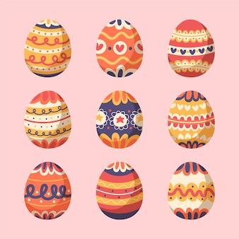 カラフルなイースターデー卵コレクション