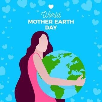 День матери-земли плоский дизайн фона