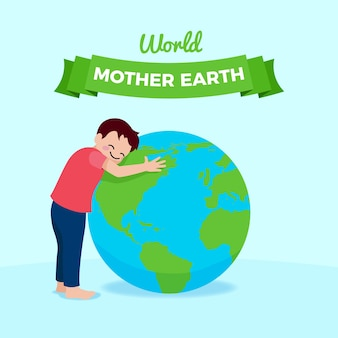 День матери-земли плоский дизайн