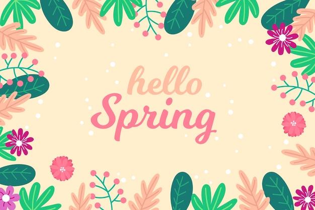 Цветочный фон привет весна