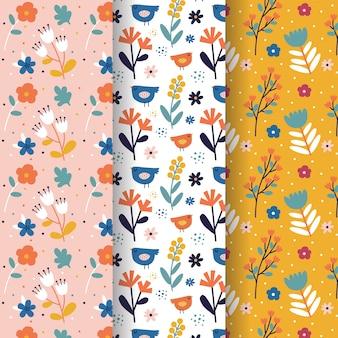 Ручной обращается весна шаблон коллекции