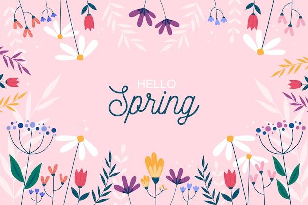 春の季節の花のフレーム