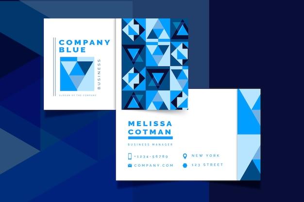 抽象的な古典的な青い名刺テンプレートデザイン