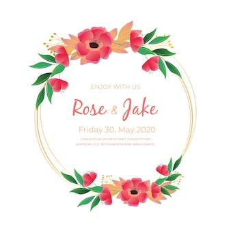 Красочная свадебная цветочная рамка