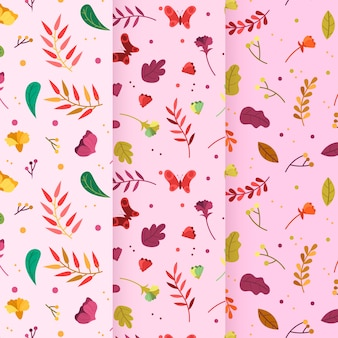 風が強い葉手描き春パターン