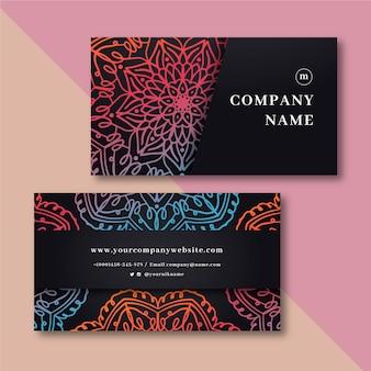 Мандала дизайн визитной карточки
