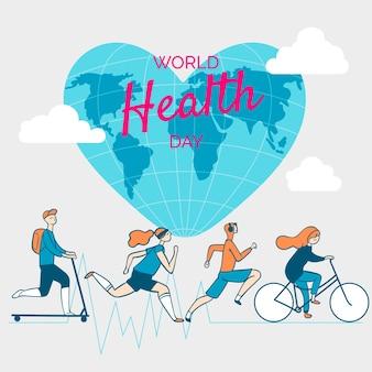 手描きの世界保健デー