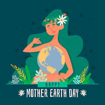 Ручной обращается день матери-земли
