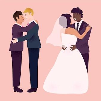 Красивые свадебные пары