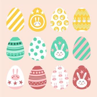 Коллекция рисованной пасхальное яйцо