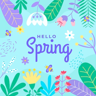 こんにちは春レタリングコンセプト