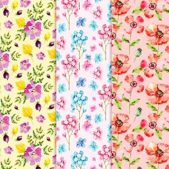 水彩春パターンコレクション