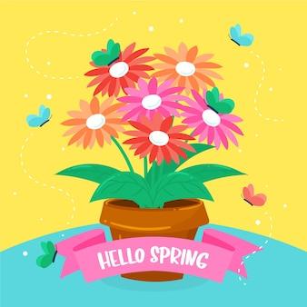 カラフルなこんにちは春
