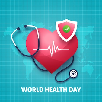 フラットなデザインの世界保健デー
