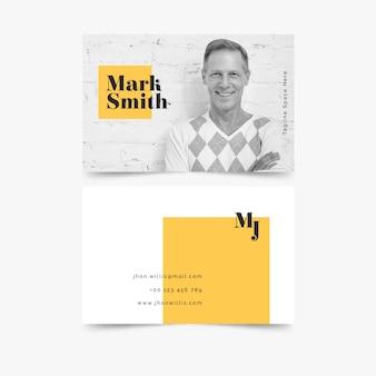 Абстрактная визитка с фото