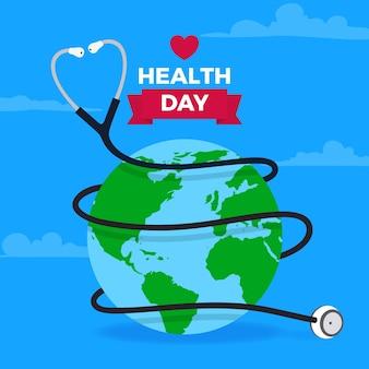 Плоский дизайн всемирный день здоровья фон