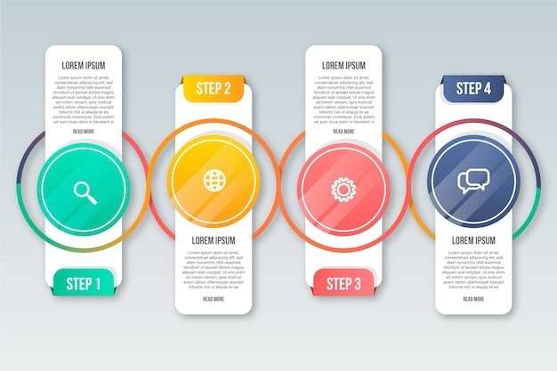 Бизнес инфографики шаги