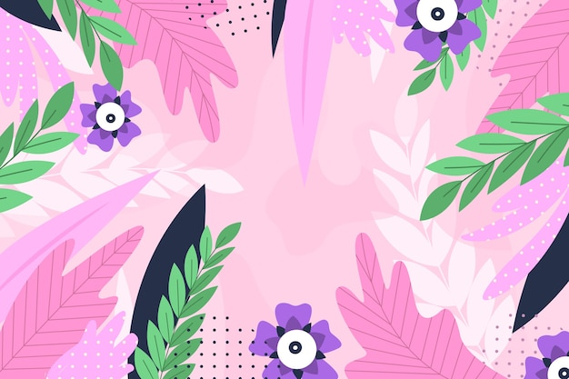 Плоский абстрактный цветочный фон