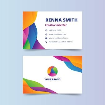 Абстрактная красочная визитная карточка для креативного директора
