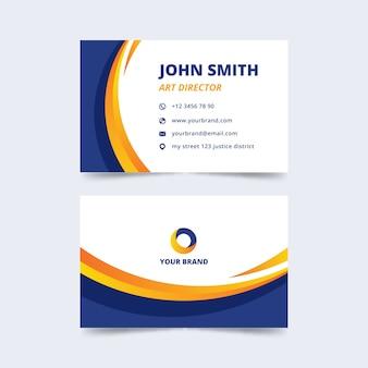 Арт-директор визитная карточка с абстрактным стилем