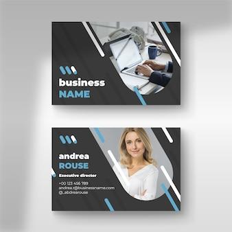 Абстрактный дизайн визитки с фото