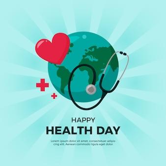 Плоский дизайн для всемирного дня здоровья
