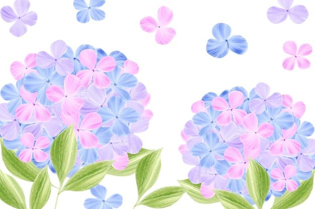 かわいいパステルカラーの水彩画の花の壁紙
