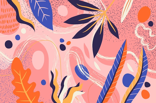 抽象的なフラット花の背景