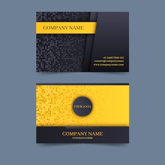 会社の名刺のエレガントなスタイル