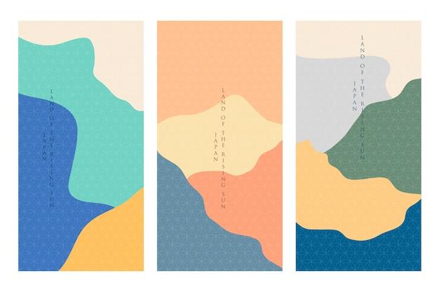 Минималистская японская тема коллекции обложек
