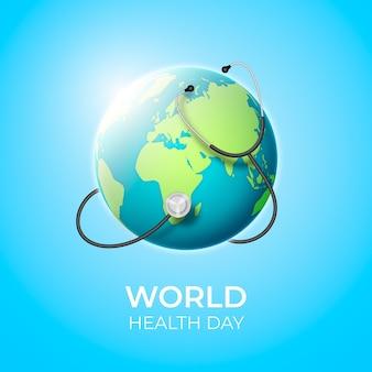 Реалистичный стиль для всемирного дня здоровья