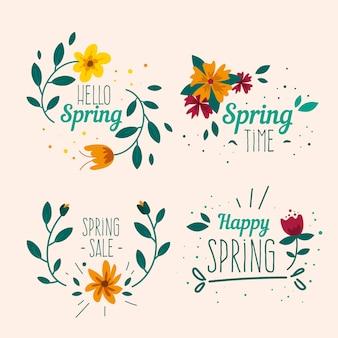 手描きの春ラベルコレクション