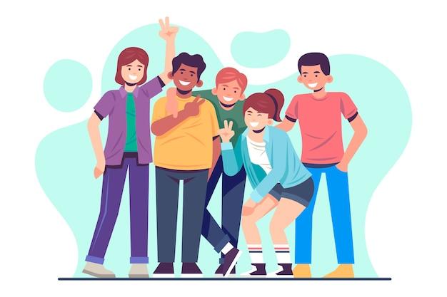 若い人たちのイラスト