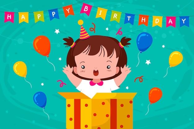 Красочный день рождения фон рисованной