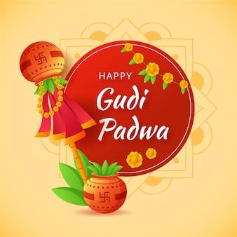 グディ・パドワのお祝い