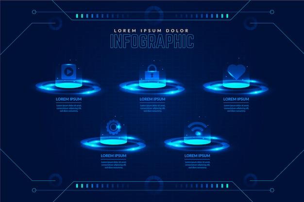 技術インフォグラフィックテンプレート
