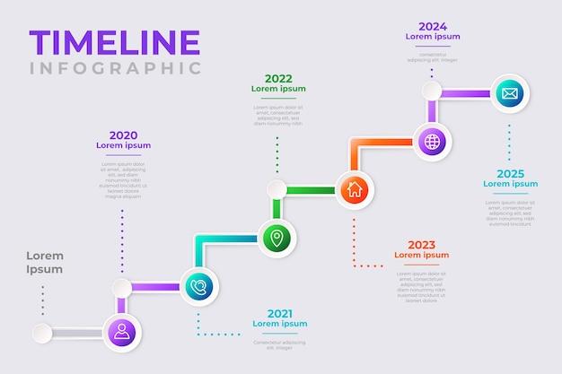 タイムラインインフォグラフィックコレクションデザイン