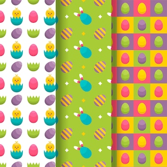 Плоский дизайн дизайн коллекции шаблон пасхальный день